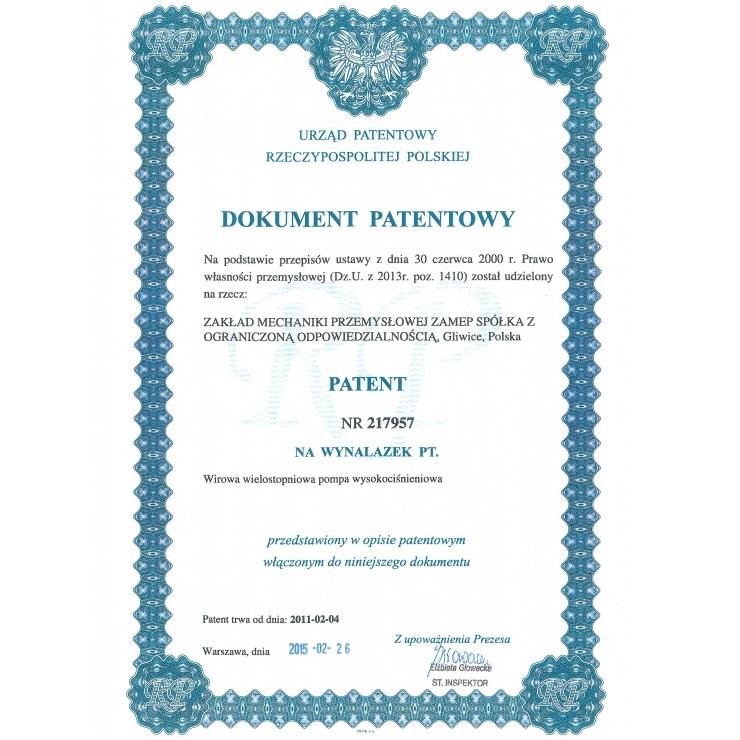 """Patenty dla """"ZAMEP"""""""